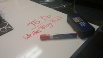 My dry erase desk